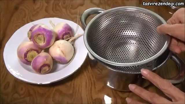 بخار پز کردن شلغم