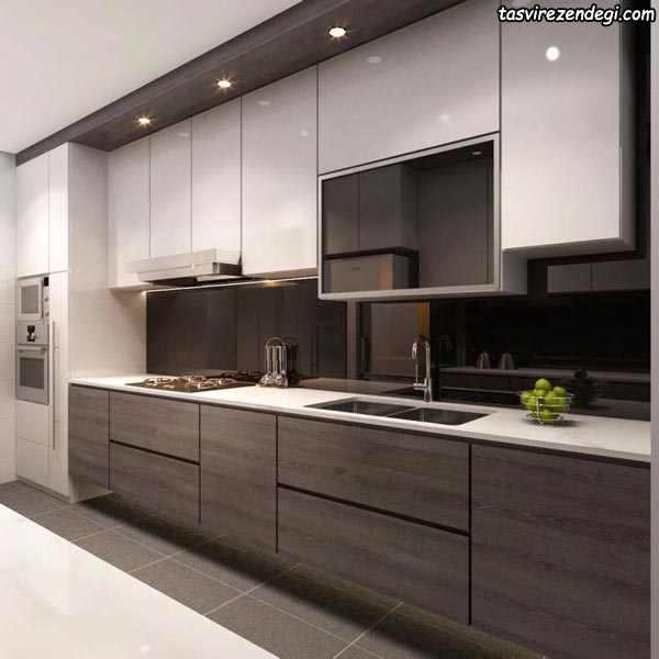 دیزاین آشپزخانه مدرن ام دی اف