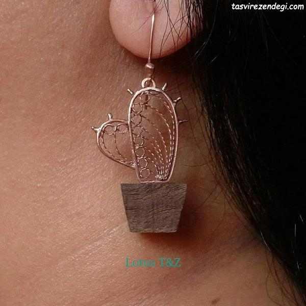 مدل گوشواره نقره ملیله دست ساز