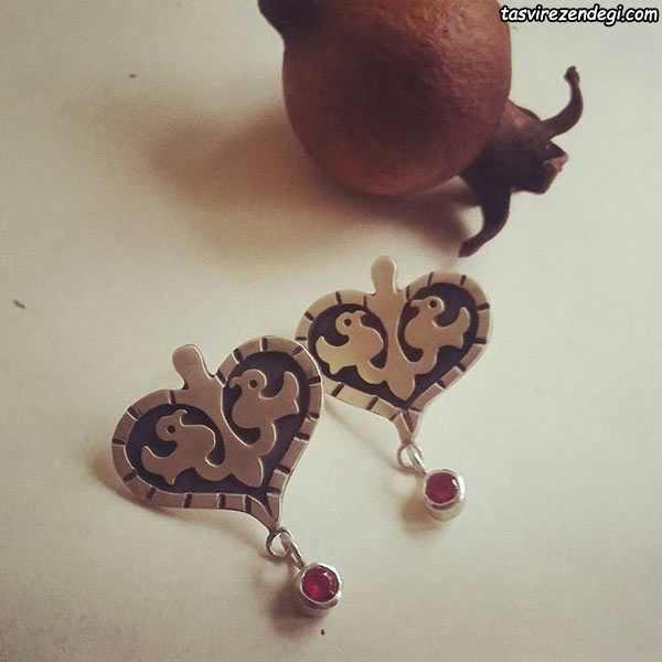 عکس گوشواره نقره دست ساز