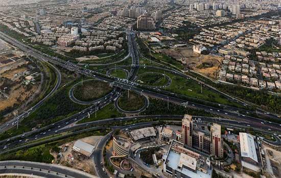 بزرگراه های در طرح ترافیک شهر تهران