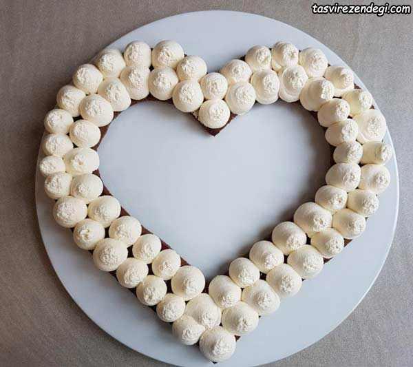 بیسکو کیک سابله بادام قلب