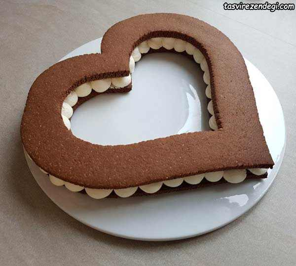 بیسکو کیک قلب سابله بادام