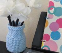 آموزش بافت گلدان کاموایی قلاب بافی