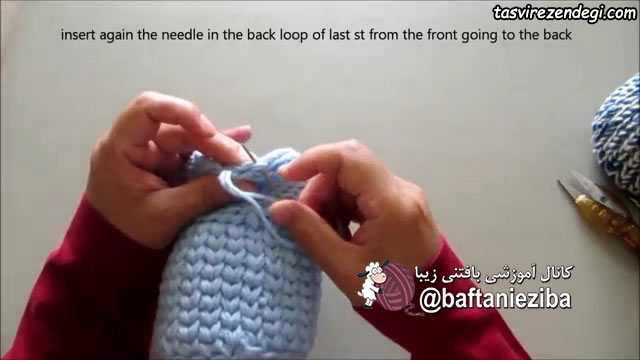 آموزش بافت گلدان کاموایی