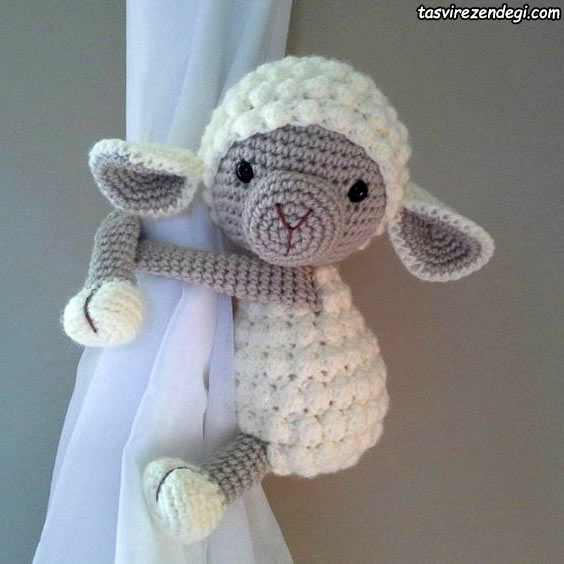 پرده جمع کن اتاق بچه عروسک گوسفند