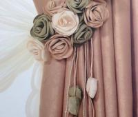 پرده جمع کن گل پارچه ای