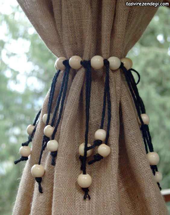 پرده گیر طناب و مهره