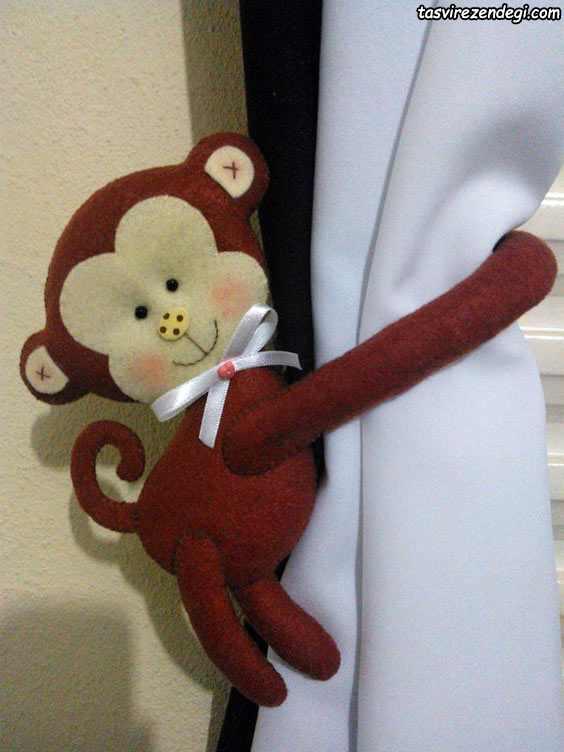 پرده گیر میمون نمدی