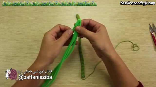 آموزش بافت گل سنبل قلاب بافی