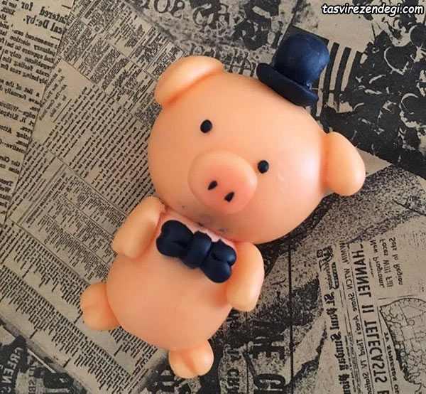 مدل عروسک خوک خمیری
