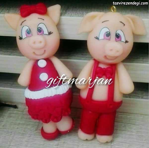 عکس عروسک خوک خمیری