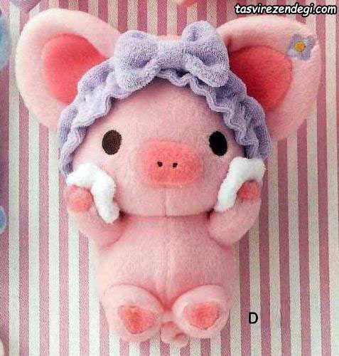 عروسک خوک نمدی