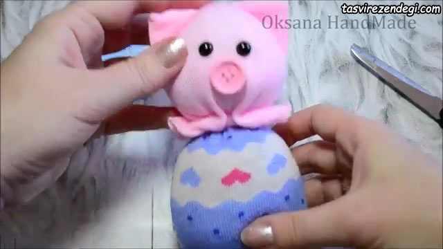 عروسک جورابی خوک