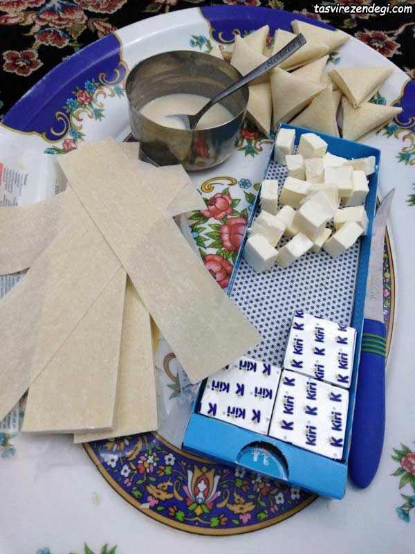 طرز تهیه سمبوسه پنیر