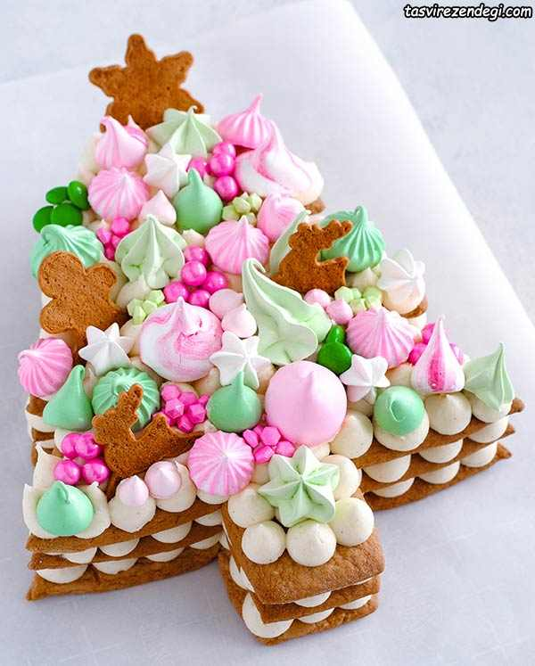 تزیین کیک بیسکویت