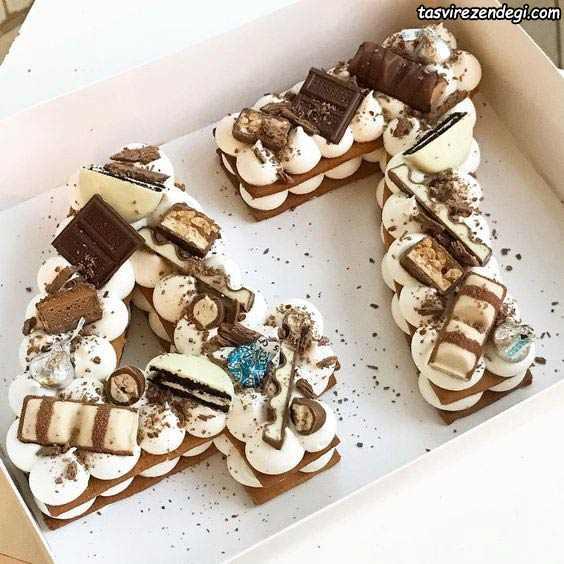 تزیین بیسکو کیک کاکائویی