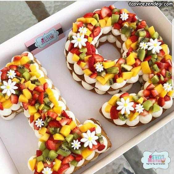 تزیین کیک بیسکویت اعداد 19