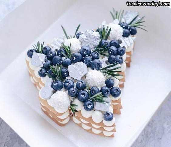 تزیین بیسکو کیک به شکل درخت
