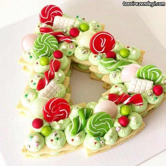 تزیین کیک بیسکوییت به شکل درخت