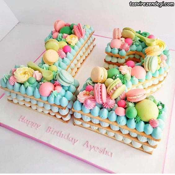تزیین کیک بیسکویت اعداد 12