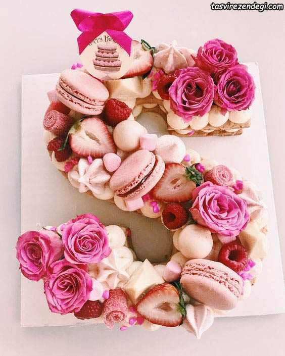 کیک بیسکویت حروف s