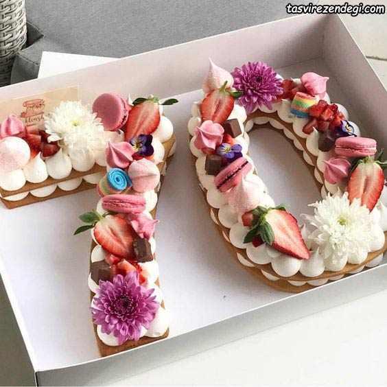 تزیین بیسکو کیک اعداد 70
