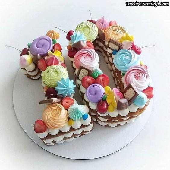 تزیین کیک بیسکویت اعداد 10