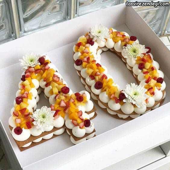تزیین بیسکو کیک اعداد 40