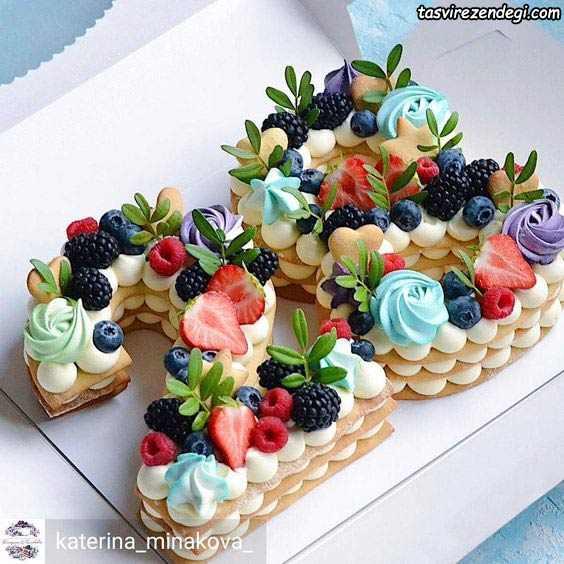 تزیین بیسکو کیک اعداد 28