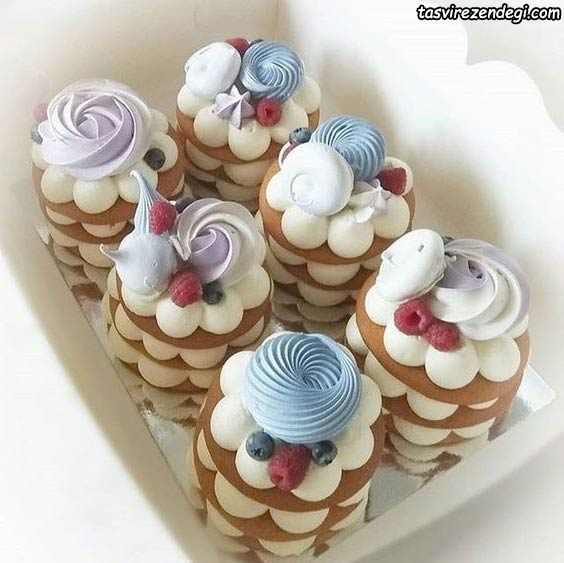 تزیین بیسکو کیک