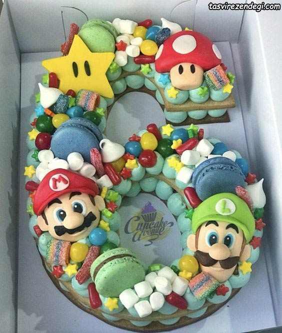 تزیین بیسکو کیک بچگانه