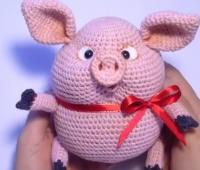 آموزش بافت عروسک خوک تپل