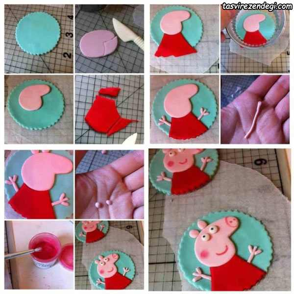 آموزش ساخت عروسک خوک خمیری