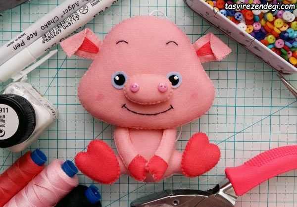 آموزش دوخت خوک نمدی