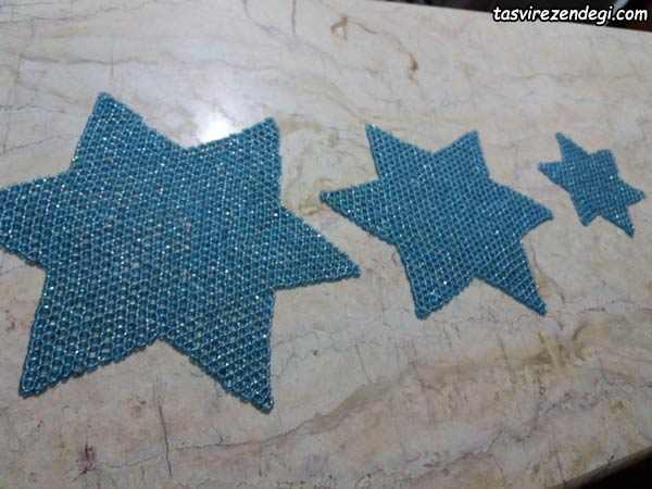 رومیزی تراشه بافی مدل ستاره