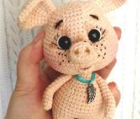 آموزش بافت عروسک بچه خوک