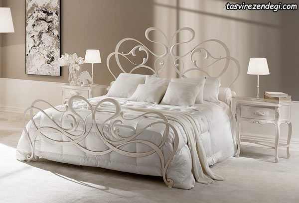 تختخواب گل نرده سفید