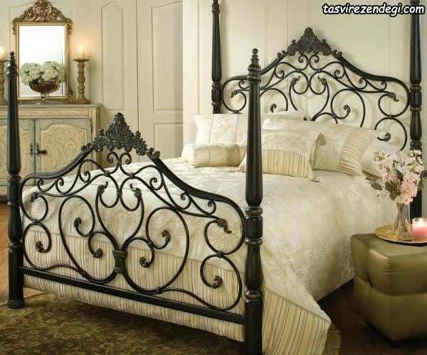 مدل تختخواب دو نفره فرفورژه