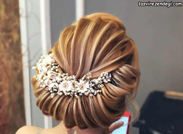 شینیون عروس موی کوتاه