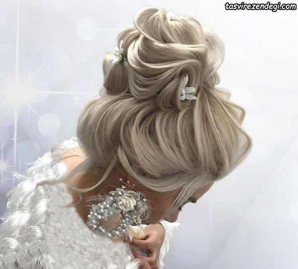 مدل شینیون عروس خطی حرارتی