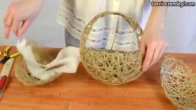 ساخت ظرف هفت سین کنفی , سبد کنفی