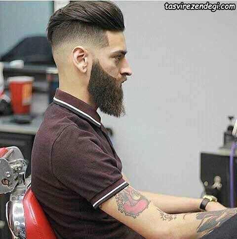 موی کوتاه با ریش بلند