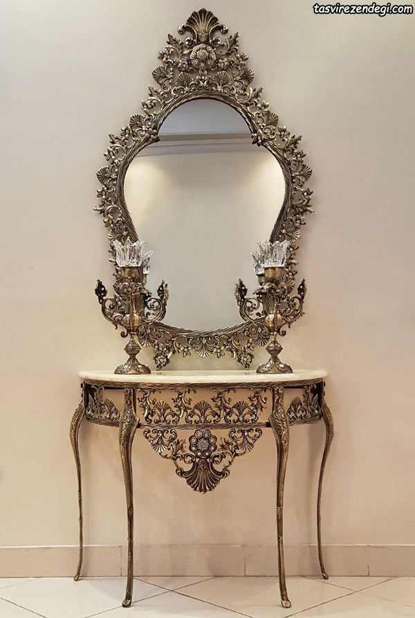 مدل آینه شمعدان و کنسول