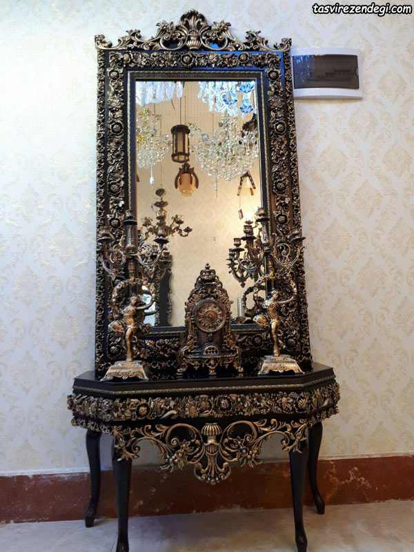 مدل آینه شمعدان کنسول سلطنتی