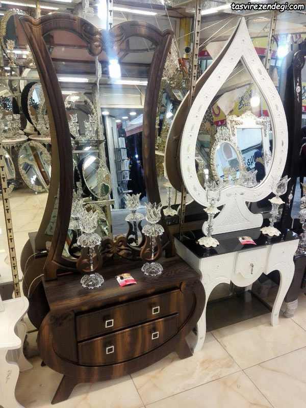 مدل آینه شمعدان کنسول جدید