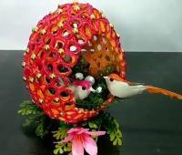 آموزش ساخت ظرف هفت سین تخم مرغی شکل