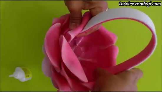 ساخت ظرف هفت سین به شکل گل