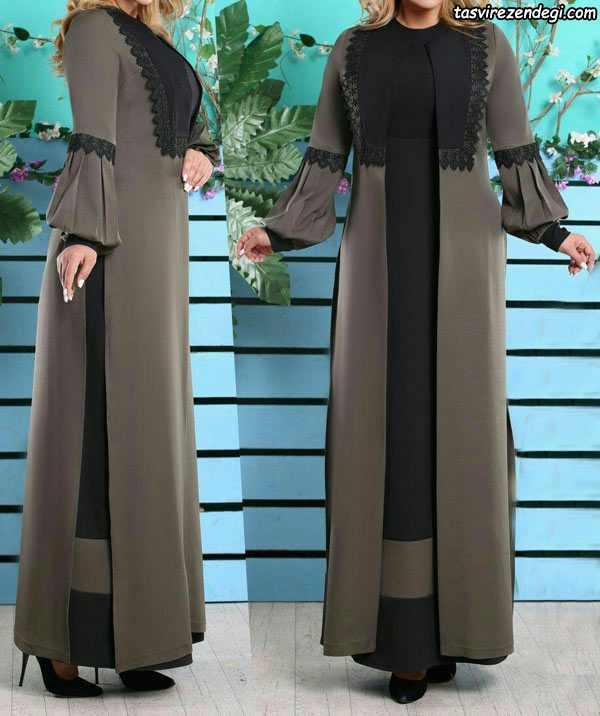 مانتو پیراهن بلند زنانه