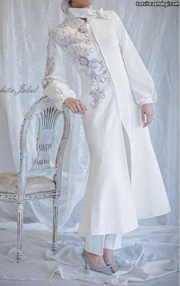 مانتو سفید برای عید نو عروس